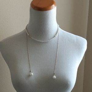 ANTHROPOLOGIE Multiway pearl and beaded necklace